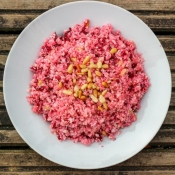 Cauliflower Couscous with Raw Beetroot