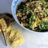 Mushroom Kale and Nut Cauliflower Risotto