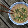 Egg Drop Miso Courgetti Soup