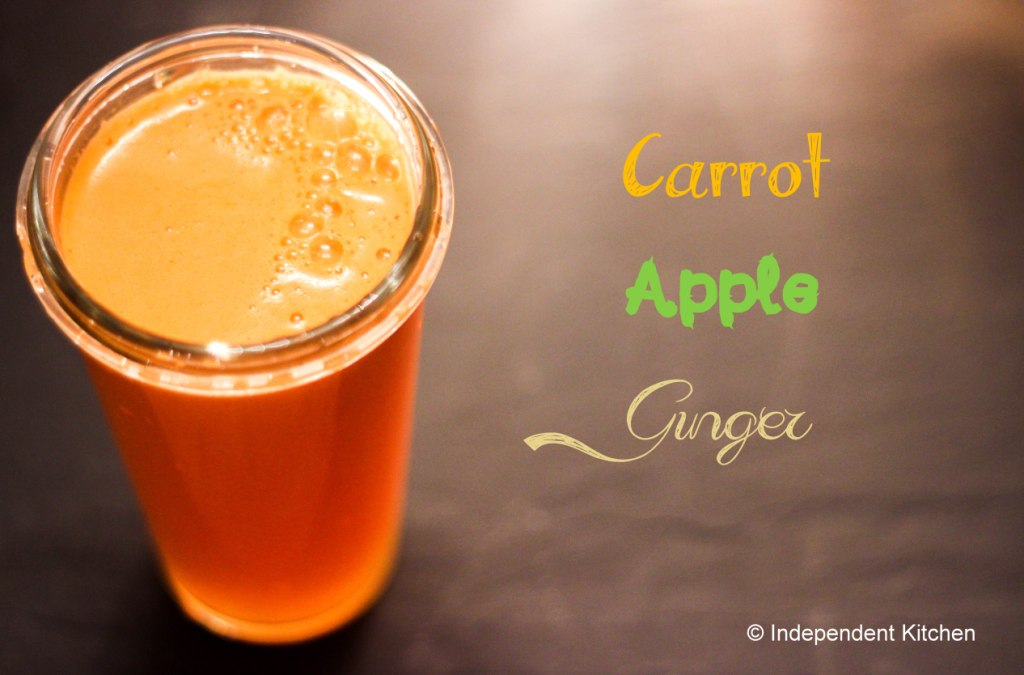 anti-inflammatory carrot apple and ginger juice, great for settling stomachs