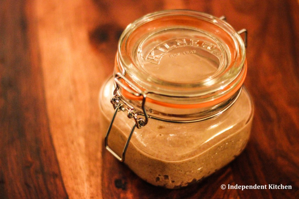 Raw organic almond butter with extra virgin coconut oil