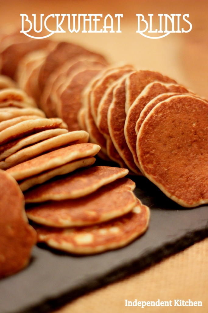 Russian Buckwheat Blinis, perfect for canapes, entertaining and cocktail parties
