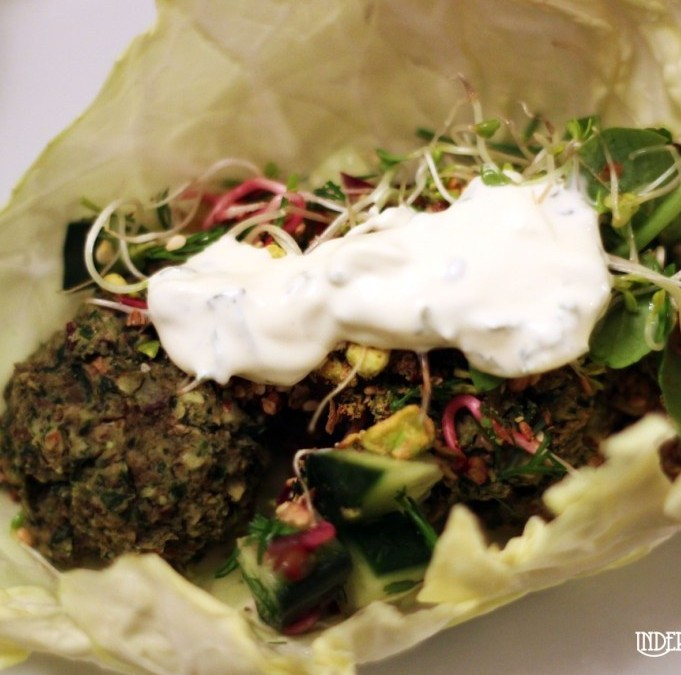 Baked 5 Bean and Almond Falafel