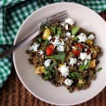 lentil and aubergine salad
