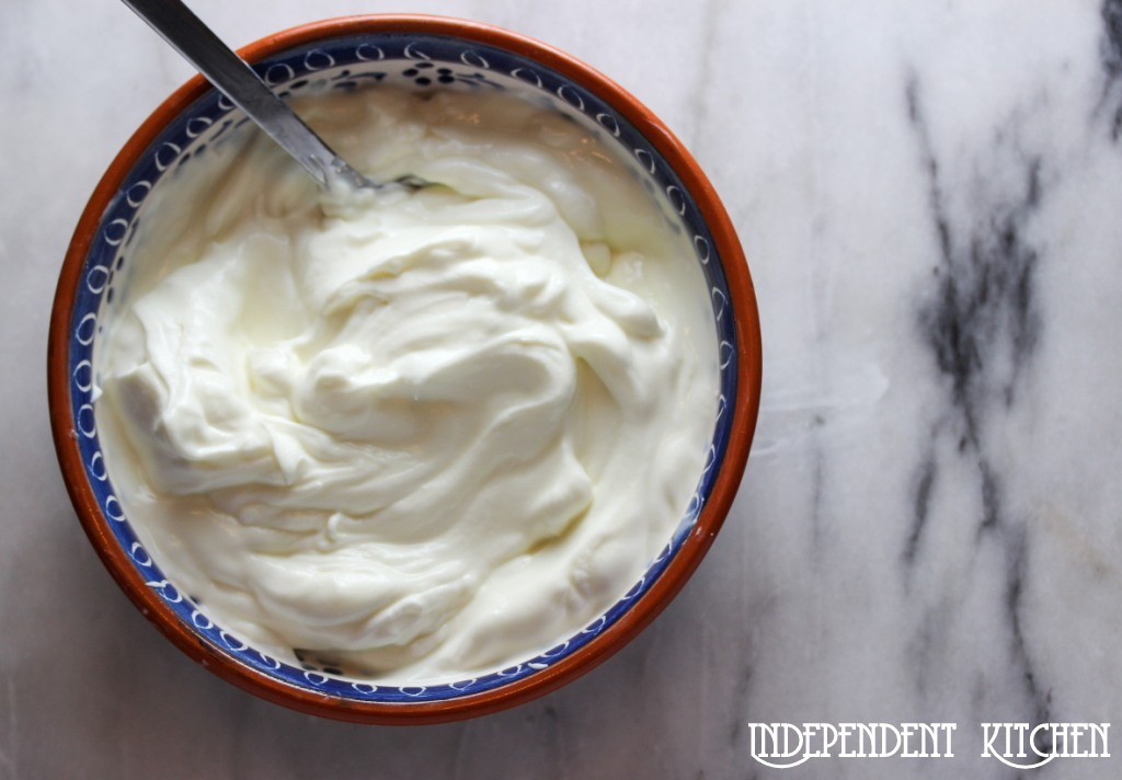 Home strained Greek yogurt