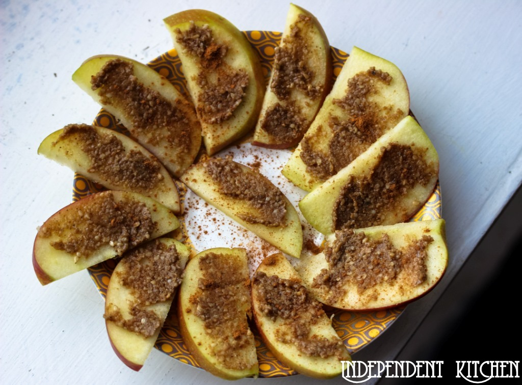 Apple and nut butter slices
