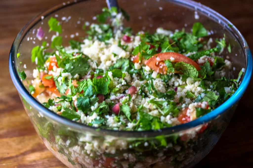 Jewelled cauliflower tabbouleh