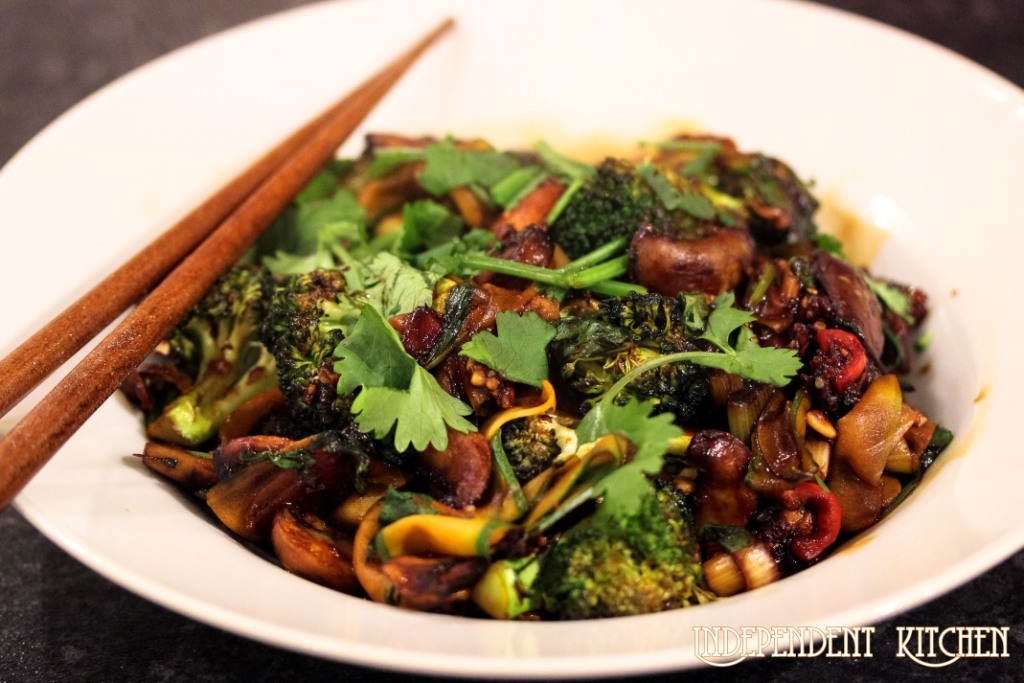 vegetable satay stir fry