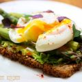 poached egg & avocado on rye