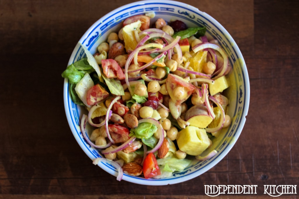 Chickpea Almond Salad